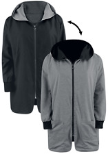 RED by EMP Hooded Reversible Jacket Giacca donna nero/grigio