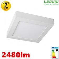 Downlight Plafón LED Cuadrado 24W Superficie 30X30 2480LM Luz Neutra/Fría Alumin