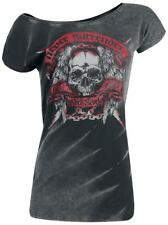 Rock Rebel by EMP Never Surrender Batik-Shirt Maglia donna antracite
