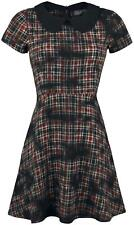 Rock Rebel by EMP Sprayed Checked Dress Abito rosso