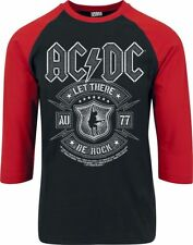 AC/DC Let There Be Rock  Manica lunga nero/rosso