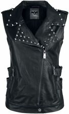 Black Premium by EMP Fake Leather Vest Gilet donna nero