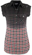 Rock Rebel by EMP Checkered Dip Dye Shirt Camicia donna nero