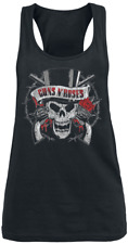 Guns N' Roses Top Hat Skull Top donna nero