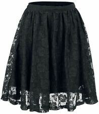 Forplay Lace Covered Skirt Gonna nero
