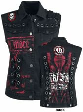 Rock Rebel by EMP Eyelet Lace Up Vest Gilet donna nero