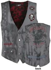 Rock Rebel by EMP Free Spirit Vest Gilet grigio
