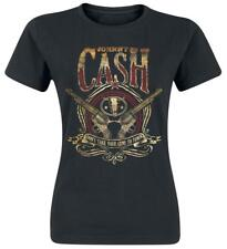 Johnny Cash Guns To Town Maglia donna nero