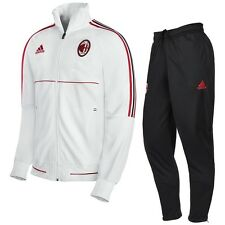 ADIDAS AC MILAN TUTA PANCHINA BIANCA WHITE TRACK SUIT 2017/2018 OFFICIAL ARTICLE