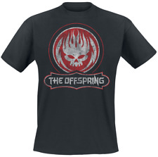 The Offspring Distressed Skull T-Shirt nero