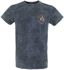 Rock Rebel by EMP Rebel Soul T-Shirt blu navy/marrone