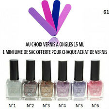 VERNIS ONGLE TRANSPARENT PAILLETTE COULEUR TOP BASE COAT MANUCURE 15 ML VER052