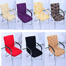 Swivel Chair Cover Office Comfort Furniture Seat Stool Slipcover Size S 7 Colors