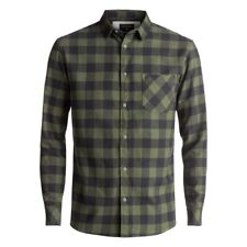QUIKSILVER MOTHERFLY FLANNEL RIFFLE GREEN CAMICIA MANICHE LUNGHE FW 2018 NEW S M