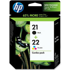 ORIGINAL HP Hewlett Packard Negro & COLOR Cartucho de Tinta Valor Paquete HP21 &