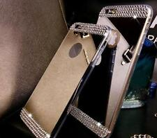 Mirror Crystal Bling Diamond TPU Gel Bumper Case Back Cover For iPhone & Samsung