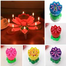 Spinning Candle Birthday Music Rotating Flower Cake Topper Party