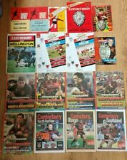 Canterbury Rugby Union Programmes 1958 - 2004