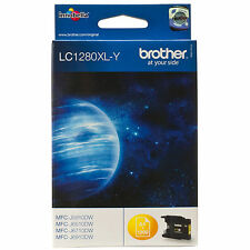 Original OEM BROTHER amarillo alta Capacidad Cartucho de Tinta LC1280/LC1280XLY