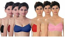 Pack of 6 & 3 Multicolour invisible Transparent Clear strap bra for Womens