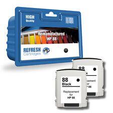 Refresh Cartuchos 2 Pack de Negro 88XL Tinta Compatible con hp Impresoras