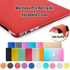 """Rubberized Hard Case for Macbook Air 13 Pro 13/15 Retina 13"""" + Keyboard Cover"""