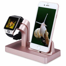 Charging Dock Stand Station Charger Holder For Apple Watch iWatch iPhone 7 Plus