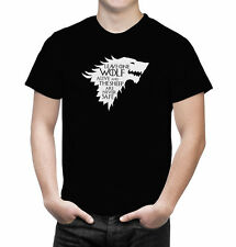Game of Thrones Leave One Wolf Alive Arya Stark Quote Inspired Men's T Shirt