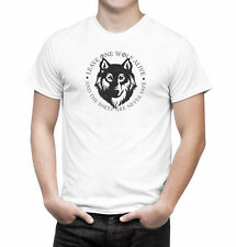 Game of Thrones Arya Stark Leave One Wolf Alive Quote Inspired Men's T Shirt