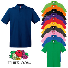 Fruit of the Loom MEN'S POLO SHIRT GOLF COLLAR SHORT SLEEVE TOP S-3XL 22 COLOURS
