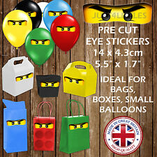 Ninjago Stickers Ninja Eyes for Gift Bag & Decoration Children Party Favour Lego