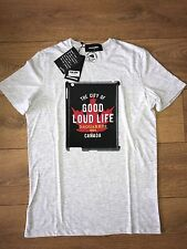 2017 GREY- DSQUARED LOUD LIFE  T SHIRT -  SIZES SMALL slim fit  **
