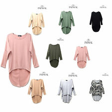 Oversized Womens Ladies Loose 3/4 Sleeve Shirt Blouse Baggy Tops Batwing Dress