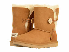 Kids UGG Bailey Button II Boot 1017400K Chestnut Suede 100% Authentic Brand New