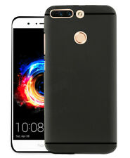 Soft Rubberised Matte Finished Back Case Cover For Huawei Honor 8 pro - Black