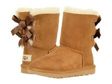 NIB UGG Youth Bailey Bow II Twinface & Suede Boots in Chestnut