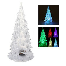 LED que cambia de color artificial de cristal Decoracion de Navidad arbol Y2X5