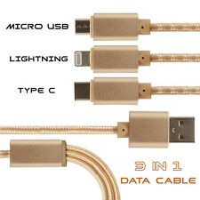 All In One Multiple USB Charging, Data Cable Compatible For Karbonn Fashion Eye