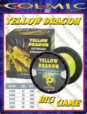 Monofilo Giapponese Colmic Yellow Dragon siliconato traina big game mt.800