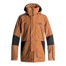 DC SHOES COMMAND JACKET LEATHER BROWN GIACCA SNOWBOARD FW 2018 NEW S M L XL