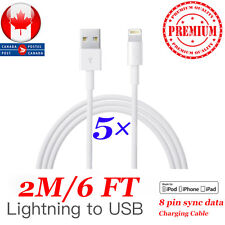 5×2m/6 Ft New Lightning USB Charging Cable For Apple iPhone5S, 6,6S, 7, 7S Plus