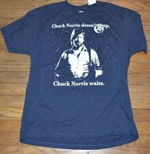 Chuck Norris Doesn't Sleep Chuck Norris Waits T-Shirt Officially Licensed Tee