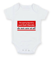 I'm Sorry But It's Just I Don't Care Bothered Hipster Geek Babygrow Body Suit Gr