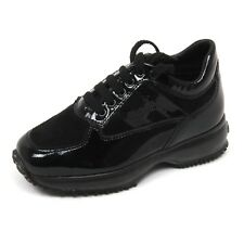 C8138 sneaker bimba HOGAN JUNIOR INTERACTIVE scarpa paillettes nero shoe kid