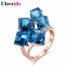 5% Off Uloveido Ladies Crystal Engagement Cocktail Ring Large for Women Zirco...