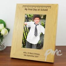 Personalised First 1st Day at School Wooden Photo Frame 5x7 6x4 Gift Keepsake