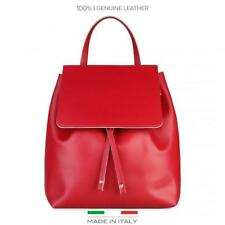 Made In Italia Sac Femme Sac a Dos Rouge 63974 Made in Italy Moto Vintage BDX
