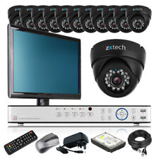 12 x Professional Camera HD-MI 16 CH DVR CCTV Kit Motion Detection with Monitor