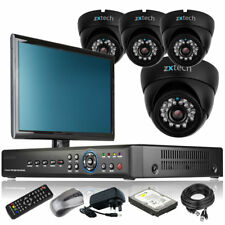 4 x Sony CCD Camera Full D1 8 CH DVR CCTV System Motion Detection with Monitor i