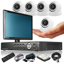 5 x Mini Compacted Camera HD-MI 8 CH DVR CCTV Package Motion Detection Monitor i